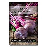 Sow Right Seeds - Detroit Dark Red Beet Seed for Planting - Non-GMO Heirloom Packet with Instructions to Plant a Home Vegetable Garden - Great Gardening Gift (1)