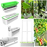 Big Smart Hydroponics Growing System self Watering Planter with Built-in Pump and Smart Reminder 60' Climbing Trellis Super Indoor hydroponics Growing System…