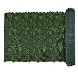 E&K Sunrise 6' x 8' Faux Ivy Privacy Fence Screen with Mesh Back-Artificial Leaf Vine Hedge Outdoor Decor-Garden Backyard Decoration Panels Fence Cover - Set of 1